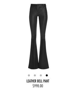 Nwt alice and olivia bell lamb leather pants